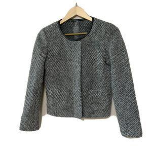 Women's Gap Grey Wool Blend Coat Jacket Size 4